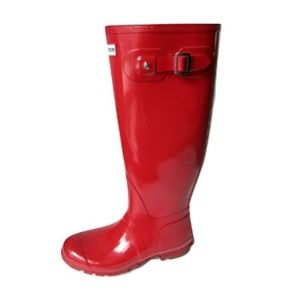 Hunter Tall Red Boots Size 8M